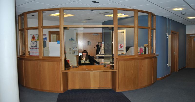 Dundee reception area