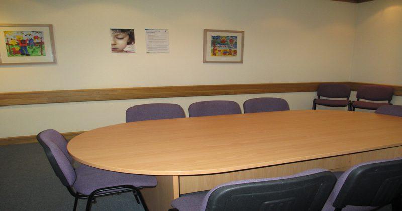 Interior of Glasgow hearing room