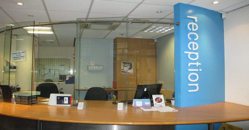Glasgow reception area