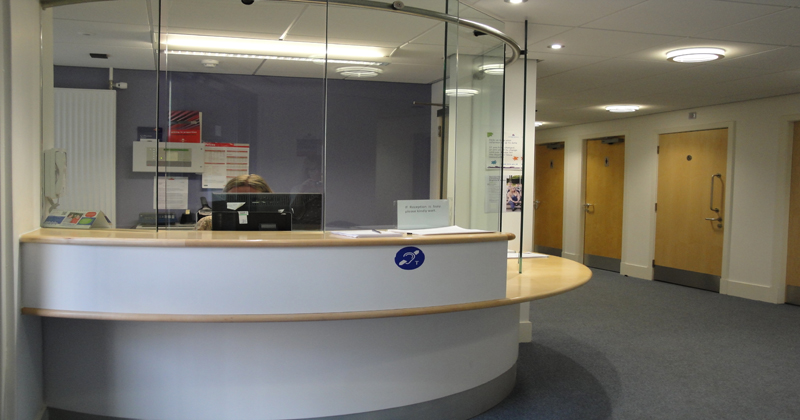 Glenrothes reception area