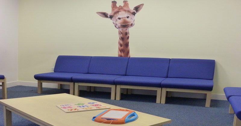 Interior of Hamilton waiting room