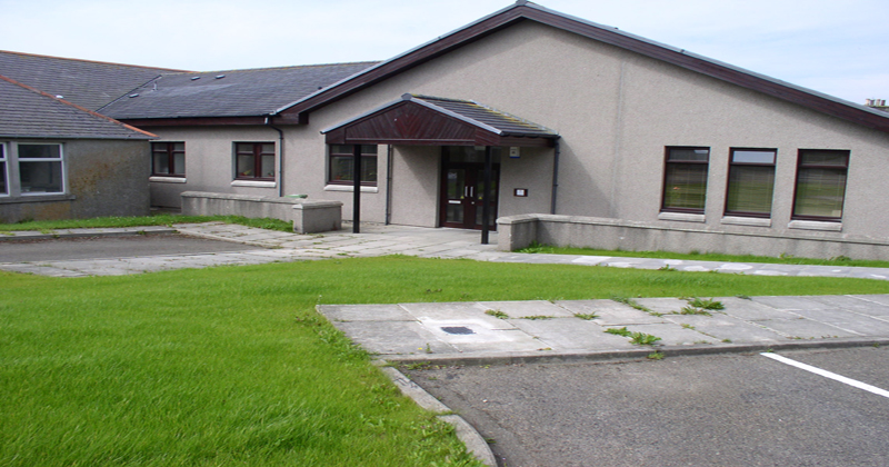 Outside Kirkwall Hearing centre