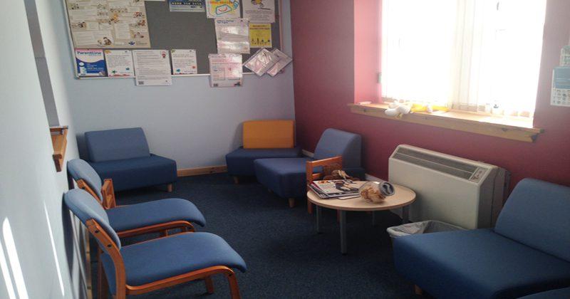 Inside waiting room Lerwick