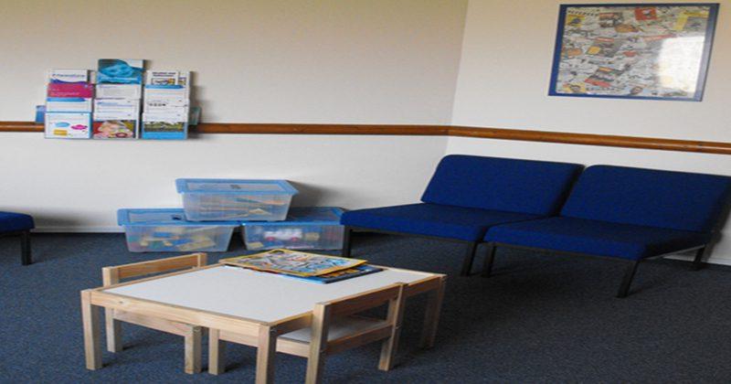 Interior of Lochgilphead waiting room