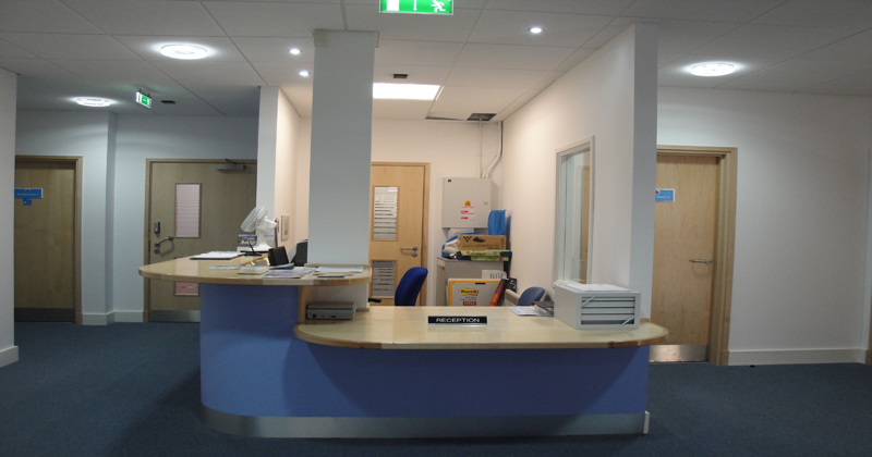 Stirling reception area