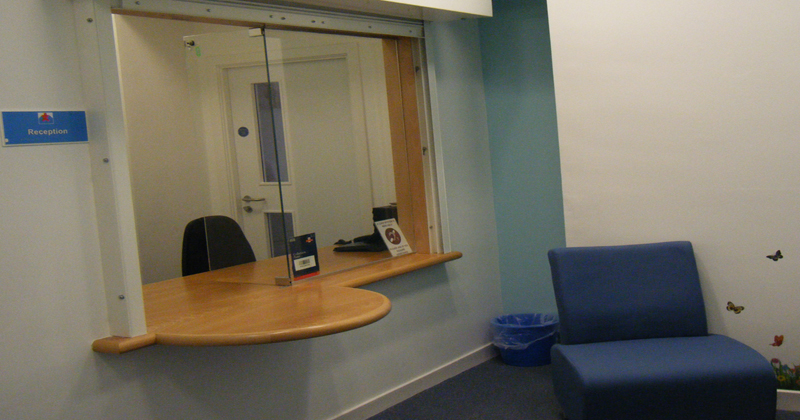 Stranraer reception area