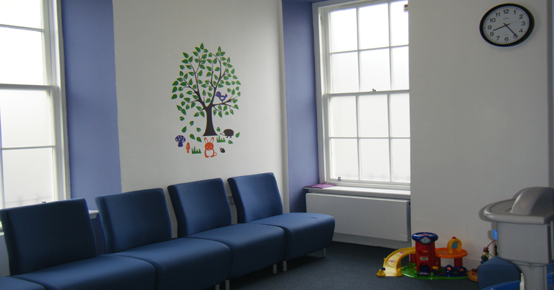 Interior of Stranraer waiting room