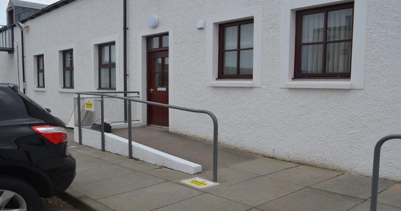 Outside Stornoway Hearing centre