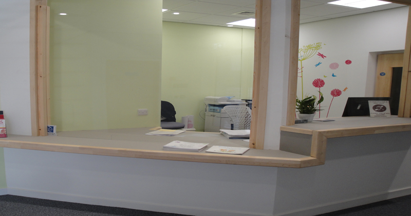 Perth reception area