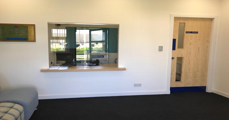 Tranent reception area
