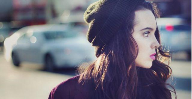 Teenage girl looking into distance
