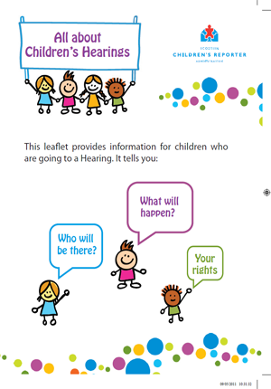 Going to a Hearing Leaflet – children