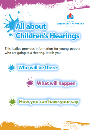 Going to a Hearing Leaflet – young people