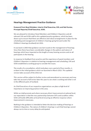 Hearings Management Practice Guidance