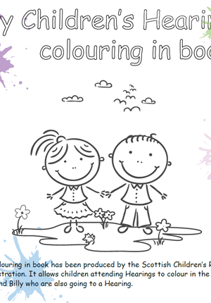 Going to a Hearing colouring in book