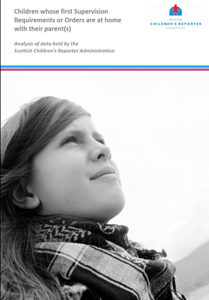 Children whose first Supervision Requirements or Orders are at home with their parent(s)